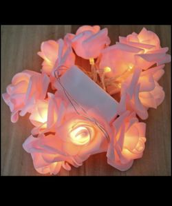 Beautiful LED Rose Flower garland string lights for Christmas Wedding home decorations different colors💕 Battery operated Exquisite LED Lights (1.5 for Sale in Spring,  TX