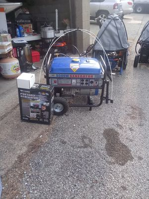 5500 watt duel fuel generator come with 30 amp tranfer switch and power inlet box for Sale in Homestead, PA