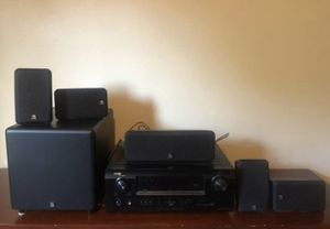 Denon receiver with speakers and sub for Sale in Buckley, WA