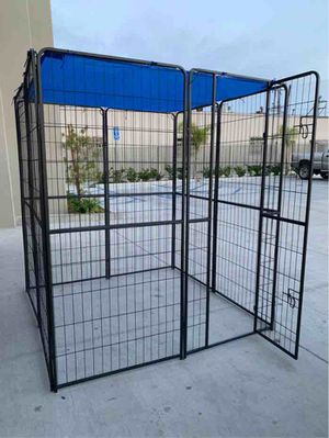 New 72 inch tall x 32 inches wide each panel x 8 panels heavy duty exercise playpen with sun shade tarp cover fence safety gate dog cage crate kennel for Sale in Whittier, CA