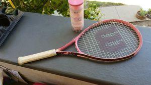 Tennis racket Wilson Hope series & 3 pink balls for Sale in Modesto, CA