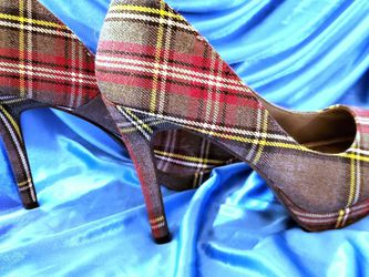Fioni Plaid Heels Sz7 for Sale in Gaithersburg,  MD