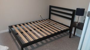 Double/Full bed frame, slates and free mattress for Sale in Ellicott City, MD