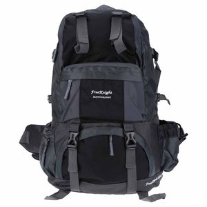 Free Knight 50L Outdoor Backpack Hiking Bag Camping Travel Water Resistant Pack Mountaineering - Black for Sale in Ontario, CA