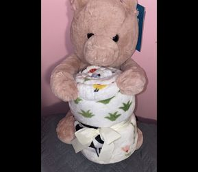 Pig Stuffed Animal & Throw Set for Sale in Fort Lauderdale,  FL