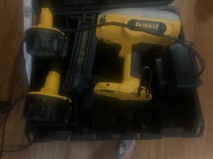 DeWalt 18 volt Nail gun w/2 battery packs, and case. 100$OBO for Sale in Lewisville, TX