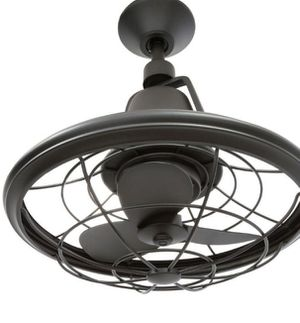 18 in. Indoor/Outdoor Natural Iron Oscillating Ceiling Fan with Wall Control for Sale in Tarpon Springs, FL