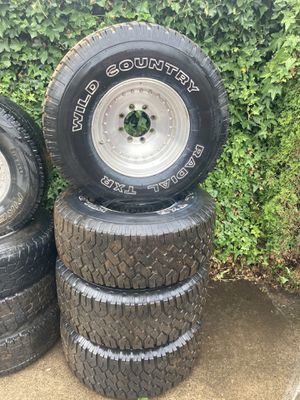 35x12.5R16.5 Wild Country Radial TXR's on 8x6.5 Centerline Wheels for Sale in Vancouver, WA