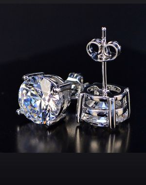Round White CZ Diamond Stud Earrings for Sale in Antioch, CA
