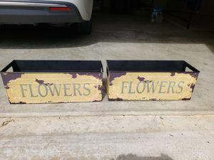 Vintage Like Flower Boxes (2) for Sale in Fort Belvoir, VA