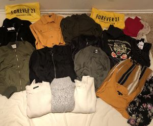 FOREVER 21 Clothes Bundle SMALL (Jackets/Sweaters/Shirts/Kimono/pant) for Sale in Hayward, CA