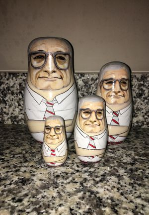 Woody Hayes wood nesting dolls for Sale in Westerville, OH