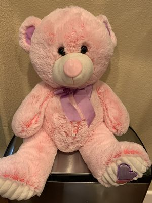 Super cute pink teddy bear like new for Sale in Byron, CA