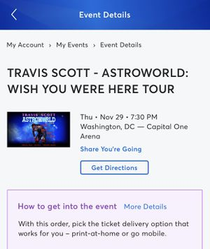 Travis Scott Ticket for Sale in Silver Spring, MD