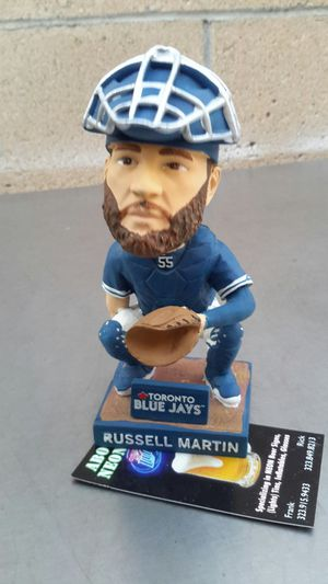TORONTO BLUE JAYS RUSSELL MARTIN BOBBLEHEAD. ( ALSO PLENTY OF NEON SIGNS / LIGHTS AVAILABLE FOR SALE ). DODGERS BOBBLEHEADS AVAILABLE. for Sale in Los Angeles, CA