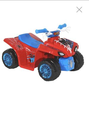 6 volt Spider-Man quad ride on toy car with charger for Sale in Brea, CA