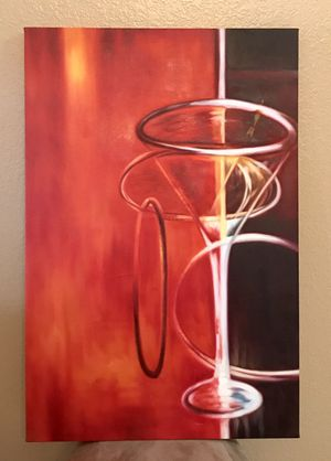 Modern Abstract Martini Painting for Sale in Lakeside, AZ