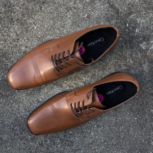 Brown Leather Men's Shoes CALVIN KLEIN for Sale in San Mateo, CA