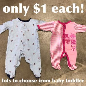 Baby toddler Footed baby pjs sleep sack suits zip snap one piece girl boy infant for Sale in Lake Forest, CA