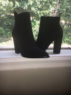 High heel black ankle boots for Sale in Darnestown, MD