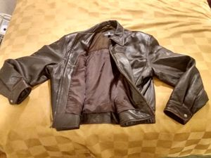London fog brown men's leather jacket extra large for Sale in Escondido, CA