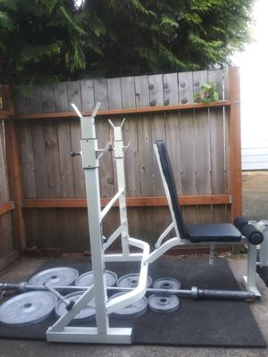 Weight set AND weight bench for Sale in West Linn, OR