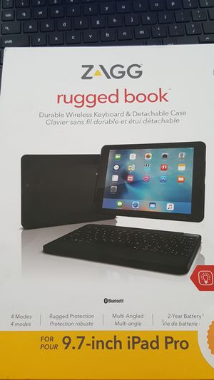 Zagg Rugged book Detachable Case & Keyboard for 9.7 inch iPad Pro for Sale in Waterloo, IN