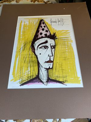 """Clown au Chapeau Rose"" by Bernard Buffet for Sale in Queens, NY"