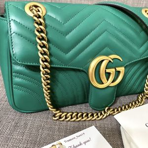 Green Gucci Bag Authentic for Sale in Rockville, MD