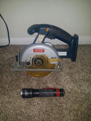Ryobi cordless saw and Milwaukee rechargeable flashlight for Sale in Deerfield Beach, FL