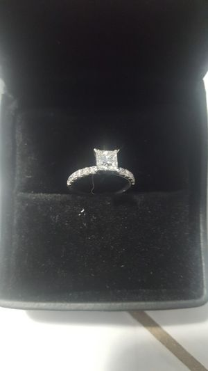 WAS $5,700!! NEW 1.11 CARAT PRINCESS CUT DIAMOND ENGAGEMENT RING WITH CERTIFIED APPRAISAL (SEE PIC # 2 FOR SPECS) 14KT WHITE GOLD for Sale in Providence, RI