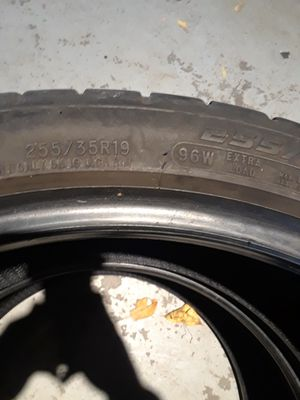 Set of 4 Cooper all season tires 255/35/R19 over 90% tread! for Sale in Green Bay, WI
