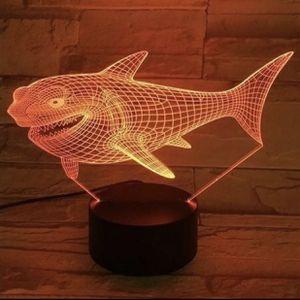 Shark 3D Nightlight Table Lamp for Sale in Odessa, TX