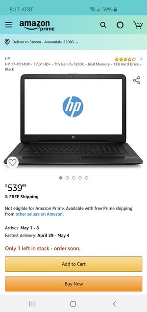"""Hp laptop 17"""" core i5 for Sale in Annandale, VA"""