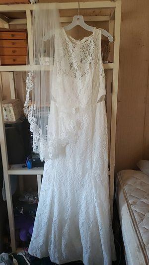 Wedding dress and veil for Sale in Punta Gorda, FL