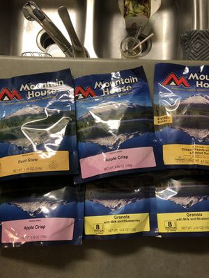 Mountain house meals and desserts. 20 for all for Sale in Lake Elsinore, CA