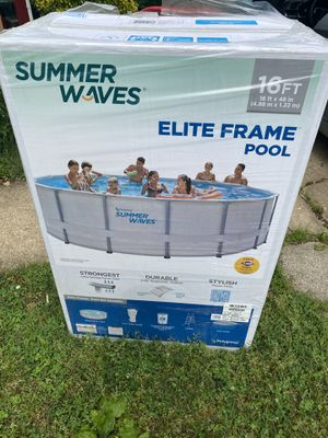 Summer waves 16x48 Ft - Pool! (brand new) Filter + Pump+ cover+ ladder for Sale in Springfield, VA