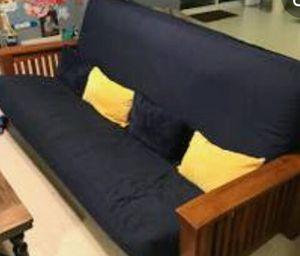 Black wooden futon couch for Sale in Newport News, VA