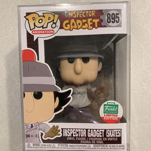 Inspector Gadget on Skates *MINT* Funko Pop Shop Exclusive Animation 895 with protector 12 Days of Gifting for Sale in Lewisville, TX