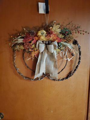 Light up Pumpkin Wreath for Sale in Victoria, TX