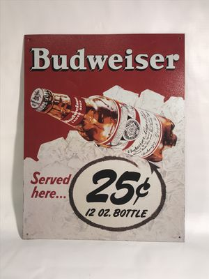 Reproduction Budweiser sign for Sale in Concord, MA