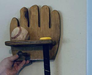 Wooden Baseball/Bat Holder for Sale in Edmond, OK
