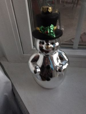 Christmas snowman. Measures : 10 inches tall. $5 for Sale in Fresno, CA