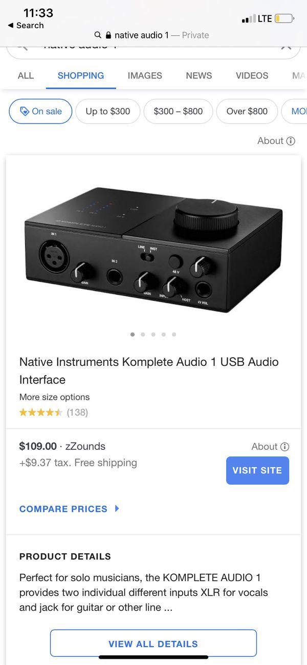 Rcm pro mic and komplete audio 1 interface