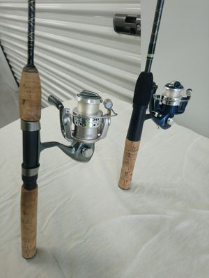 2 Quantum fishing reels and rods. for Sale in Saint AUG BEACH, FL