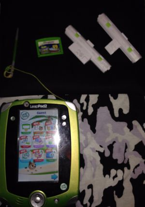 Youth/Child/Kids LeapPad2 Learning System Tablet Green W/ stylus, spongebob game included, batteries and two rechargeable leap pad batteries, charger for Sale in Wheat Ridge, CO