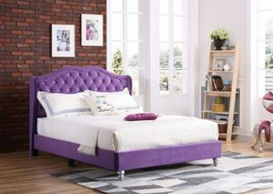Brand new queen diamond bed frame no mattress $300 with black dresser mirror and 1 nightstand $599 for Sale in FL, US