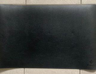 Sleek Black Leather Desk Pad by Knodel for Sale in Beaverton,  OR