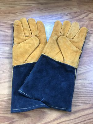 "New 14.5"" long leather BBQ gloves grill gloves for Sale in Philadelphia, PA"