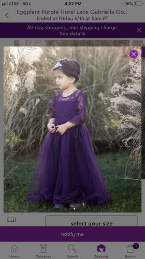 Flower Girl Dress/Size 6 for Sale in Oakland, CA